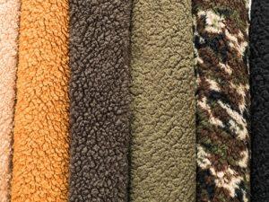 Corderito camel, terracota, gris, verde militar, camuflado y negro