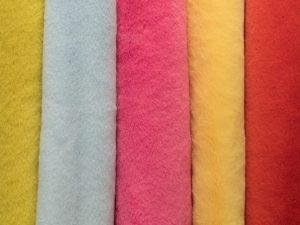 Castorino mostaza, celeste, fucsia, amarillo y rojo